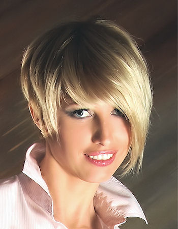 short haircuts with bangs for women and girls