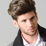 Striking male hairstyle.