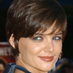 Katie Holmes with Trimmed Locks.