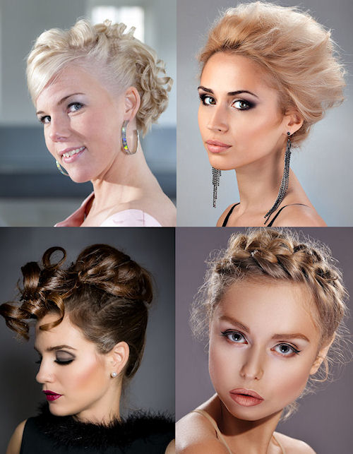 Short Updo's for Brides.