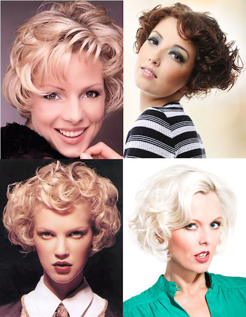 Short Curly Hairstyles.