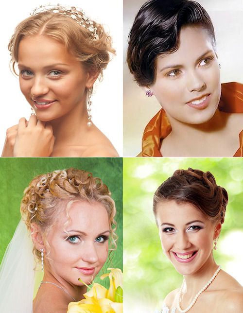 Short Updo's for Weddings.