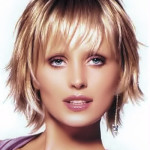 Shaggy Blonde Short Haircut