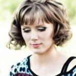 Attractive young brunette model close-up  portrait, studio shot