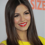 Victoria Justice with Dark Straight Hair.